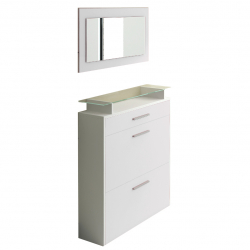 Shoe Cabinet in white high gloss