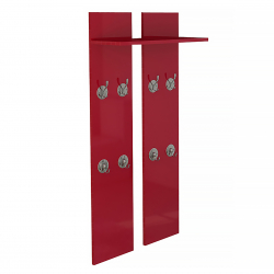 Wardrobe in red high gloss